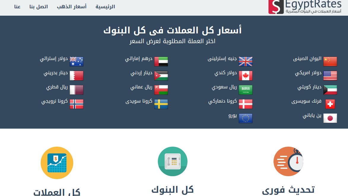 أسعار العملات فى البنوك المصرية Egyptrates